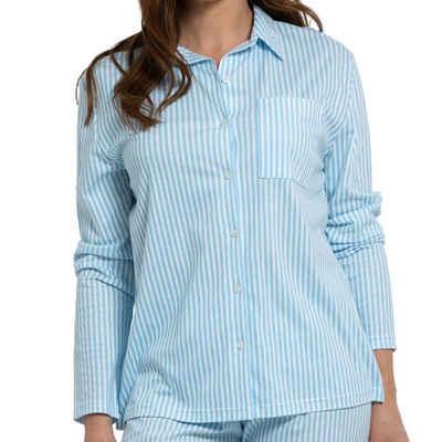Mey Pyjamaoberteil »Sleepsation Pyjama Shirt langarm - Organic Cotton« Aus GOTS-zertifizierter Baumwolle, Mit Knopfleiste und Hemdkragen, Einfach mit der passenden Hose kombinieren