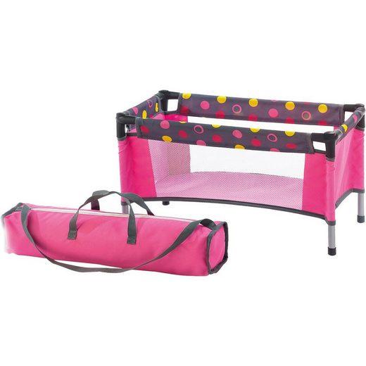 CHIC2000 Puppenhausmöbel »Puppen-Reisebett Dark Pink«