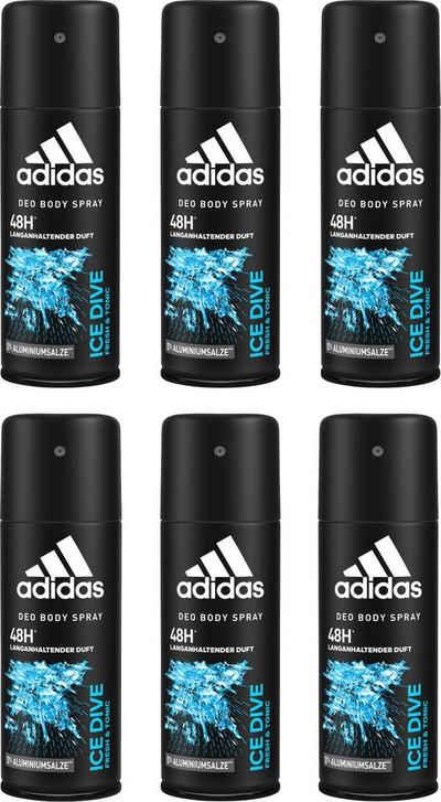 adidas Performance Deo-Spray »Ice Dive«, Spar-Set, 6-tlg., für Männer