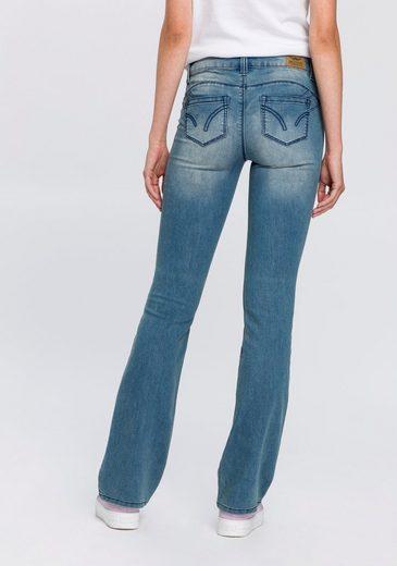 Arizona Bootcut-Jeans »Shaping« Mid Waist