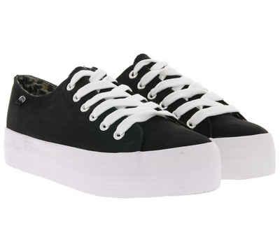 MTNG »mtng Low Top Schuhe coole Damen Plateau-Sneaker Skater-Schuhe Schwarz/Weiß« Plateausneaker