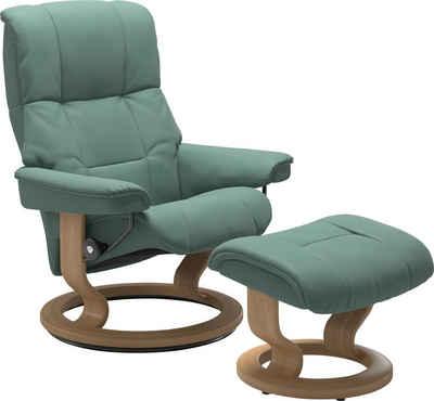 Stressless® Relaxsessel »Mayfair« (Set, Relaxsessel mit Hocker), mit Hocker, mit Classic Base, Größe S, M & L, Gestell Eiche
