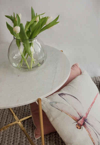 carla&marge Couchtisch »Maromy«, mit Tischplatte aus weißem Marmor