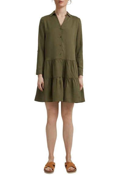 Esprit Volantkleid im Hemdblusenstil und in dezenter A-Form