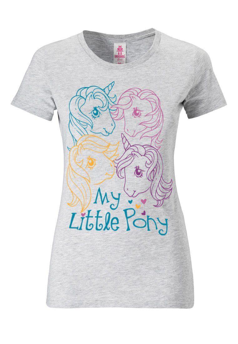 LOGOSHIRT T Shirt mit niedlichem Frontdruck »My Little Pony Heads« online kaufen | OTTO