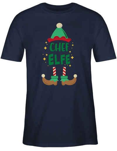 Shirtracer T-Shirt »Weihnachten Chef Elfe - bunt - Sprüche Statement mit Spruch - Herren Premium T-Shirt« Spruchshirt mit Sprüchen