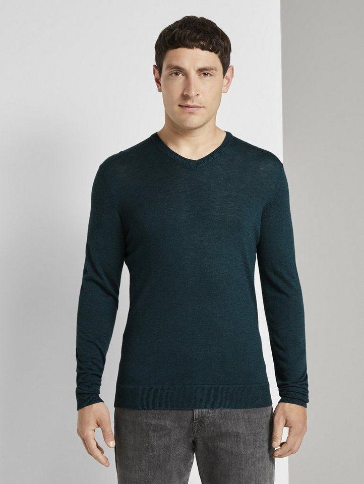 tom tailor -  Strickpullover »Feiner Pullover aus Merinowolle«