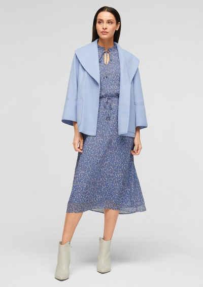 s.Oliver BLACK LABEL Minikleid »Chiffon-Kleid mit Allover-Print«