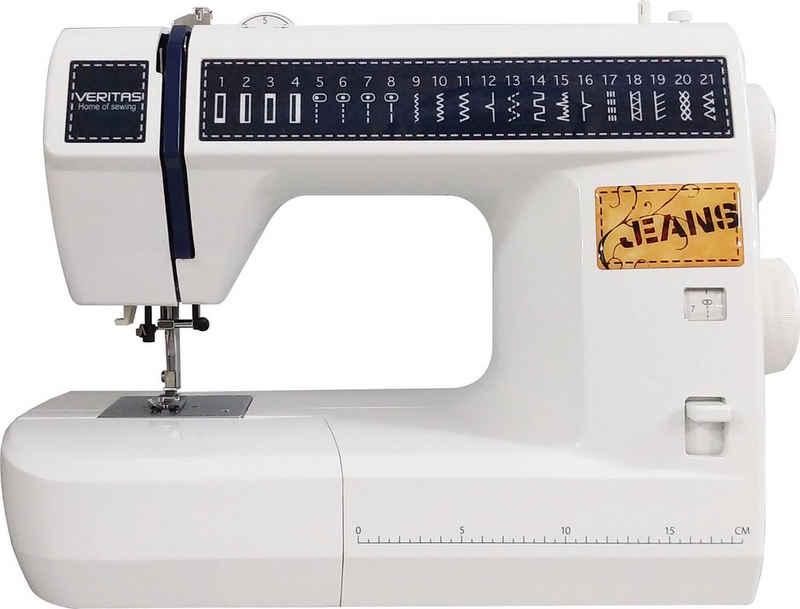 Veritas Freiarm-Nähmaschine JSB21, 21 Programme, Denim Style der Sonderklasse