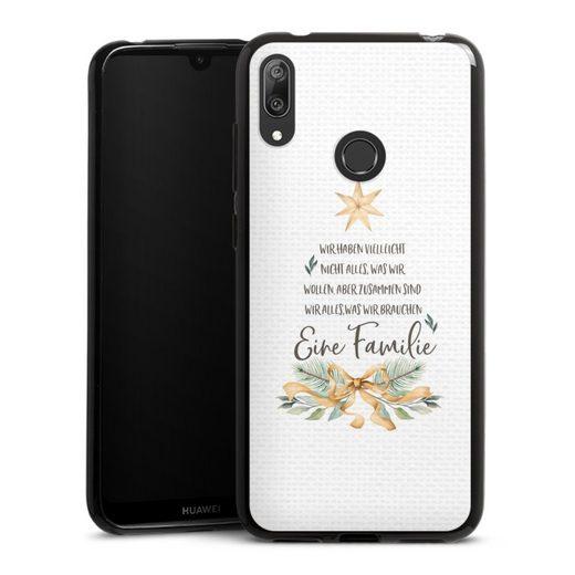 DeinDesign Handyhülle »Eine Familie« Huawei Y7 (2019), Hülle Familie Glück Sprüche
