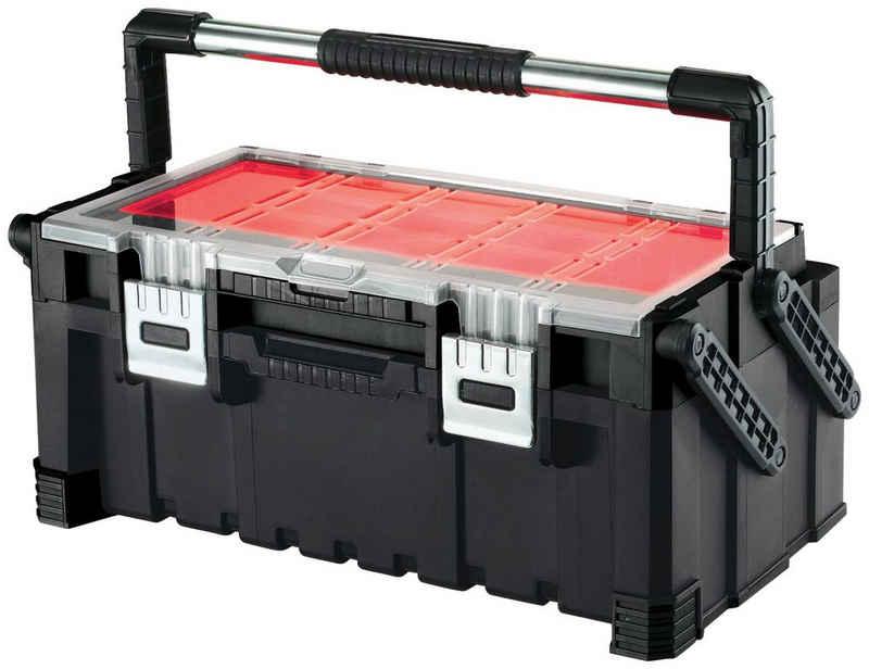 Keter Werkzeugbox »Connect«, transparenter Deckel, 2 Ebenen, herausnehmbare Behälter