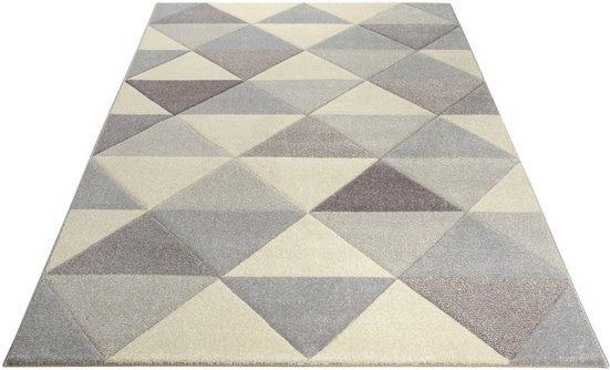 Teppich »Berlad«, Bruno Banani, rechteckig, Höhe 13 mm, Handgearbeitet, Konturenschnitt, Wohnzimmer