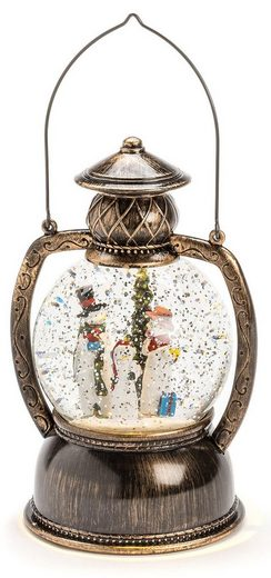 KONSTSMIDE LED Laterne »Schneemannfamilie«, wassergefüllte Kugellaterne mit Timer