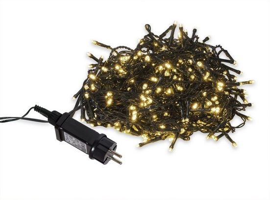 BigDean LED-Lichterkette »180 LEDs warmweiß inkl. 8 Funktionen Party Weihnachtsbeleuchtung für Innen & Außen«, 180-flammig