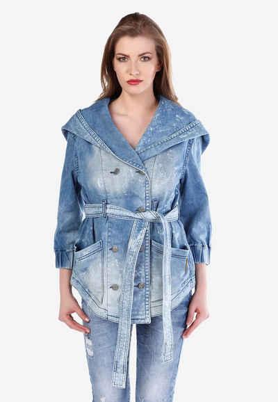 Cipo & Baxx Jeansjacke im zweireihigen Design