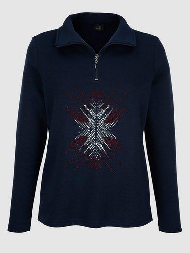 Paola Sweatshirt mit aufwändiger Strasssteindekoration