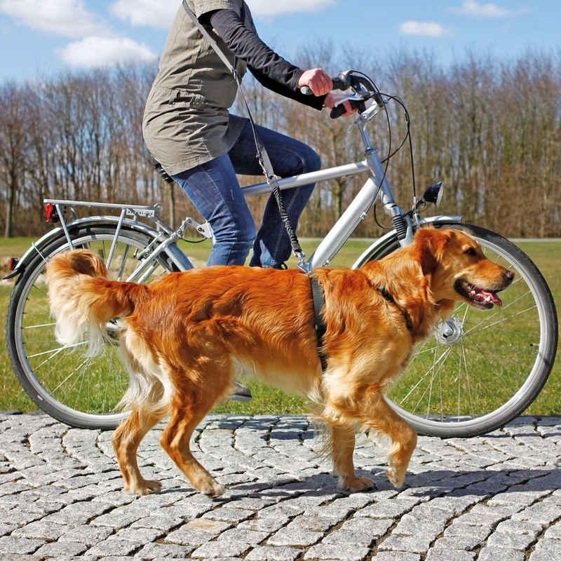 TRIXIE Fahrradleine »Fahrrad - und Joggingleine«, Nylon (2-tlg), Unsere Fahrrad- und Joggingleine besteht aus 2 Teilen: der verstellbaren Umhängeleine und der flexiblen Expanderleine