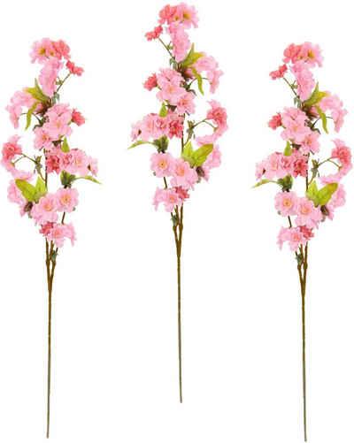 Kunstblume »Palina« Kirschblütenzweig, my home, Höhe 84 cm, 3er Set