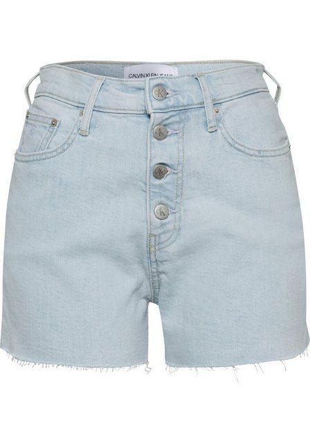 Hosen - Calvin Klein Jeans Shorts »HIGH RISE SHORT« mit sichtbarem Button fly und Fransensaum ›  - Onlineshop OTTO