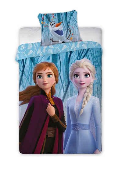 Bettwäsche »Frozen Eiskönigin Kinderbettwäsche 140 x 200 cm«, Disney