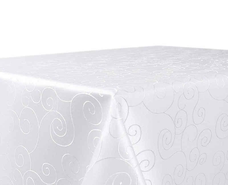Beautex Tischdecke »Beautex Tischdecke Damast Ornamente - Bügelfreies Tischtuch - Fleckabweisende, pflegeleichte Tischwäsche - Tafeltuch« (1-tlg)