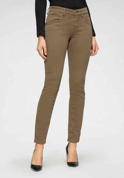 MAC Slim-fit-Jeans »Dream Slim« Fromgebender Sattel vorne und im Rücken