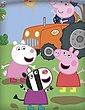 Kinderbettwäsche »Peppa Wutz Pig - 2 x Traktor-Bettwäsche-Set für Jungen, 135x200 & 80x80 cm«, Peppa Pig, 100% Baumwolle, Bild 5