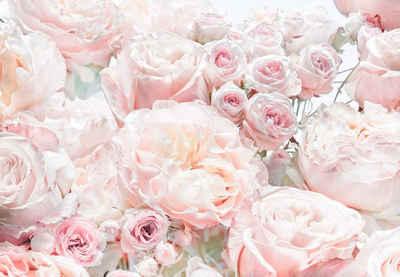 Komar Fototapete »Spring Roses«, glatt, bedruckt, Wald, geblümt, (Set), ausgezeichnet lichtbeständig