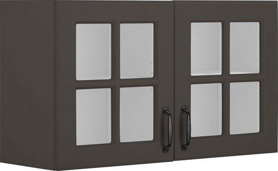 wiho Küchen Glashängeschrank »Erla« Front mit Glaseinsatz