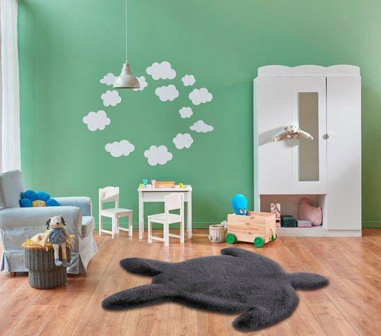 Kinderteppich »Kids-1001«, calo-deluxe, Motivform, Höhe 36 mm, Kunstfell, Motiv Schildkröte