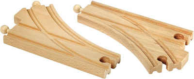 BRIO® Weiche »BRIO® WORLD Bogenweichen (L,M)«, FSC®-Holz aus gewissenhaft bewirtschafteten Wäldern