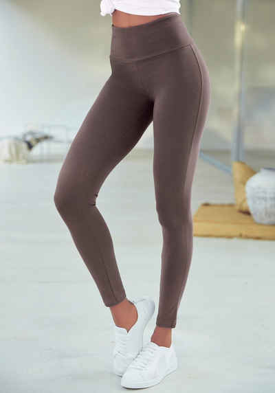 LASCANA Leggings mit breitem Bündchen