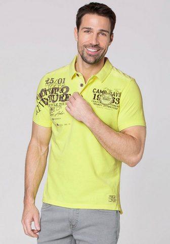 CAMP DAVID Polo marškinėliai su vielen Details