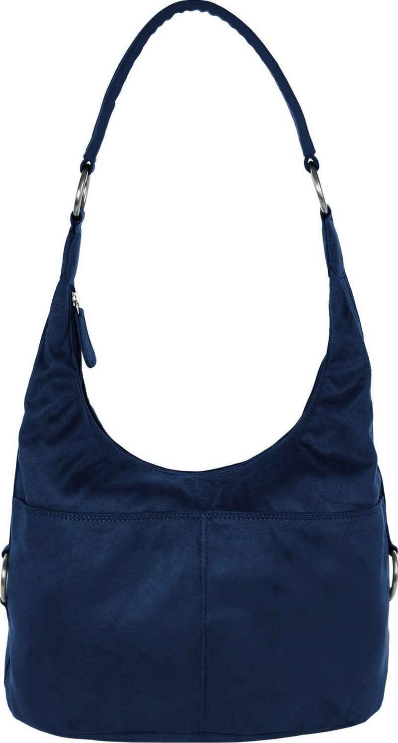 DrachenLeder Beuteltasche »OTS100X DrachenLeder Damen Beuteltasche Tasche« (Beuteltasche), Damen Beuteltasche Kunstleder, blau, ca. 37cm x ca. 18cm