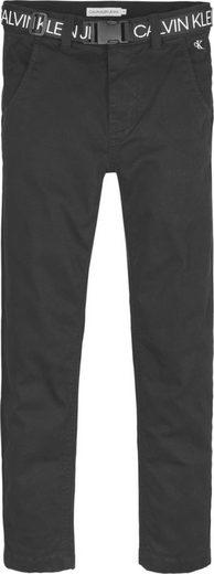 Calvin Klein Jeans Chinohose »LOGO BELT TAPERED CHINO« mit Gürtel