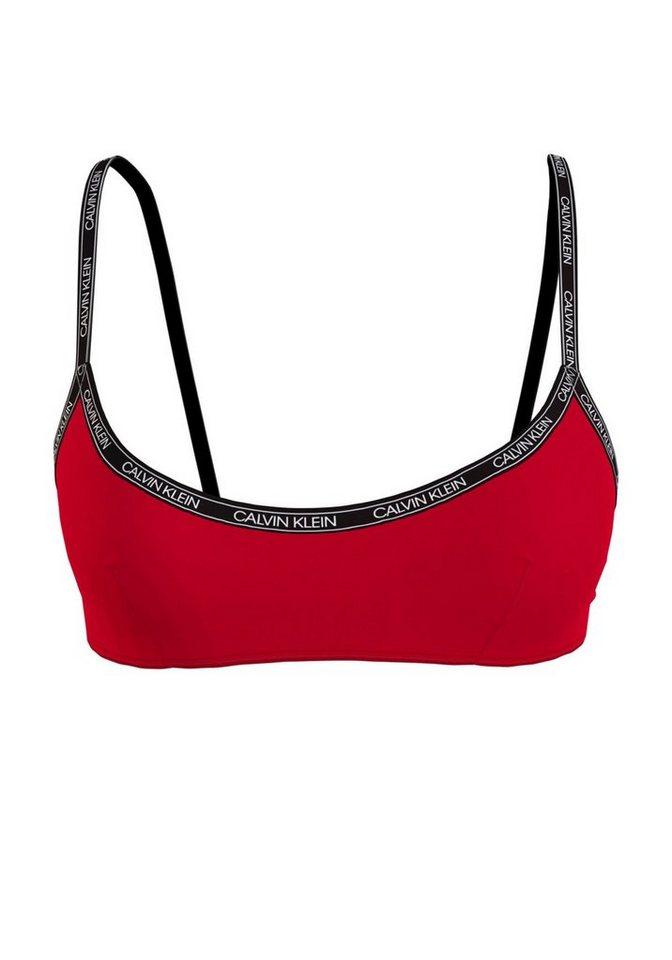 Bademode - Calvin Klein Bustier Bikini Top, im schlichten Design › rot  - Onlineshop OTTO