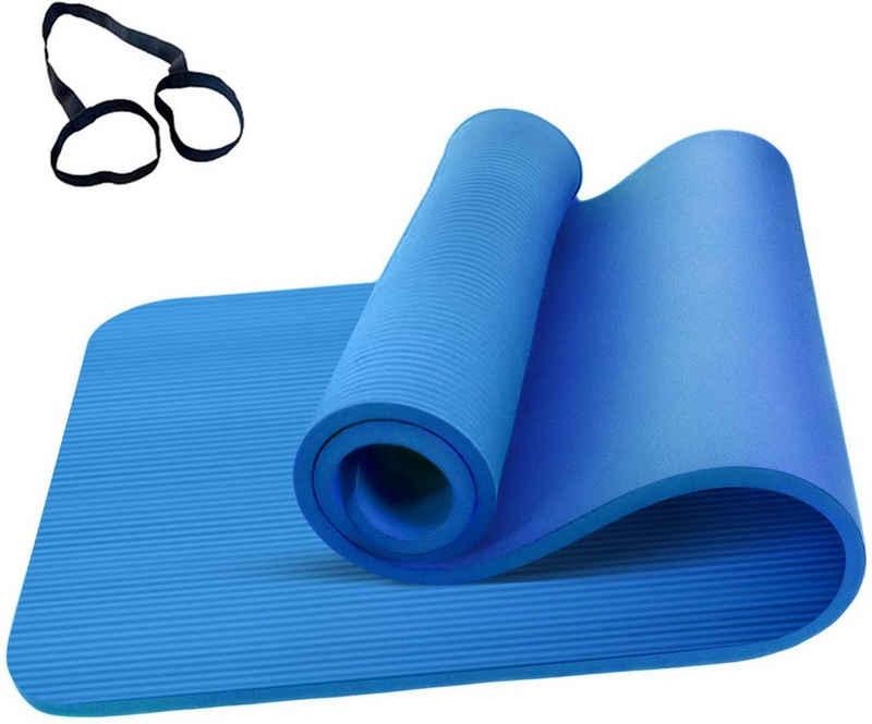 FCH Yogamatte »Gymnastische rutschfeste Matte NBR Pilates Fitnessmatte Gymnastikmatte«, Sportmatte Matte Yoga 183 x 61 x 1,5 cm