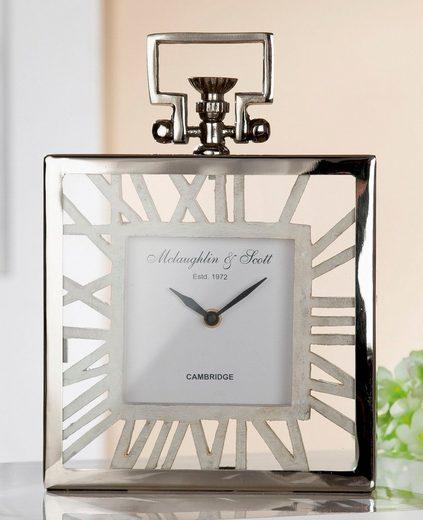 GILDE Standuhr »Uhr Forma« (1-St), Höhe 29 cm, eckig, römische Ziffern, Wohnzimmer