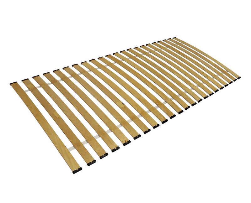 Rollrost, Clamaro, Rollrost Lattenrost gebogene Federleisten rahmenlos Bettrost bis 150Kg CLAMARO