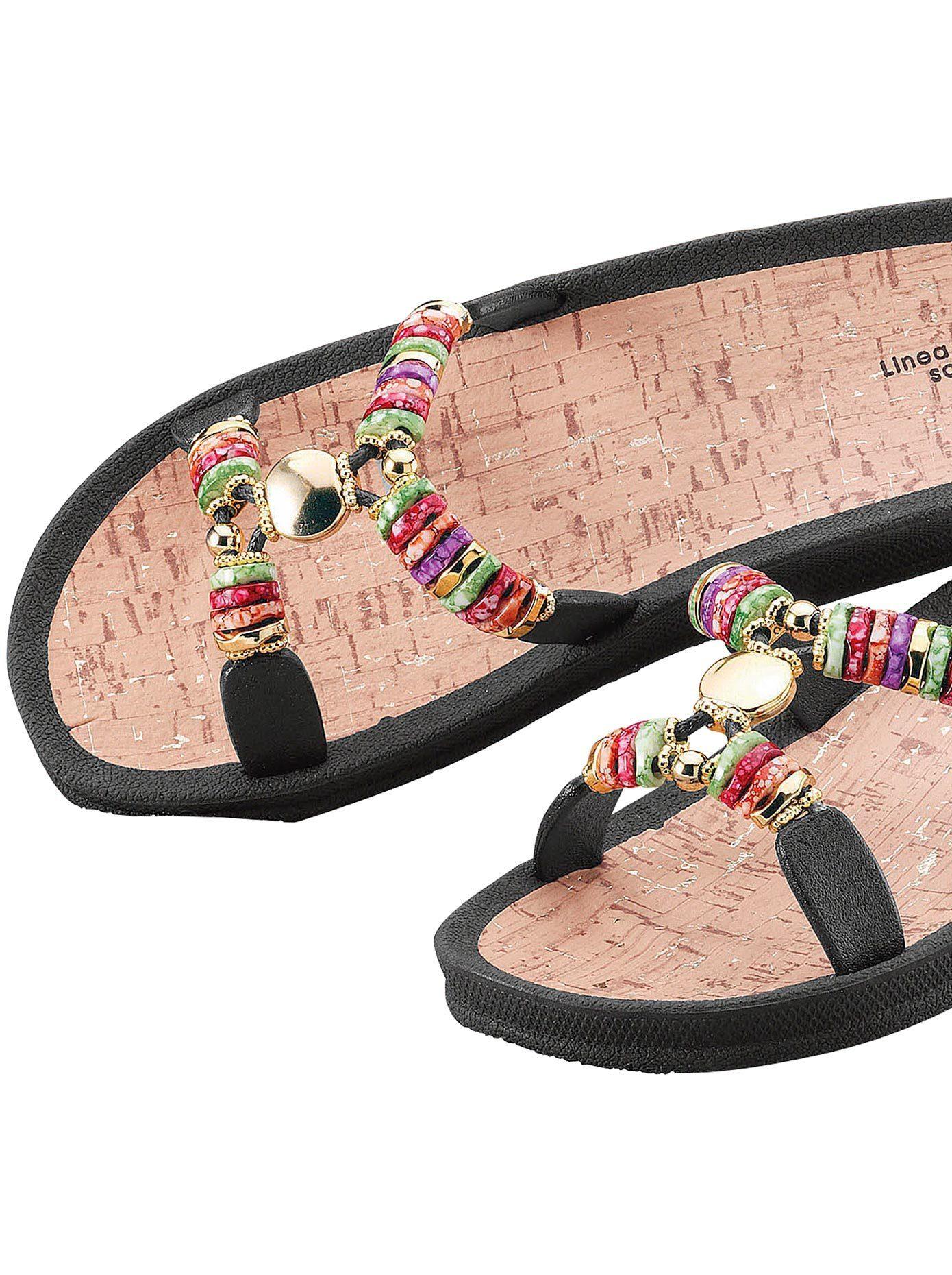 LINEA SCARPA Pantolette, mit Zierperlen online kaufen | OTTO