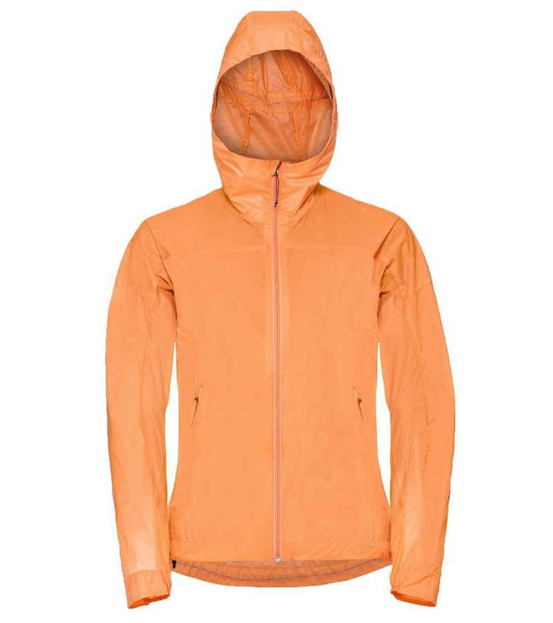 Odlo Outdoorjacke »odlo Fli Dual Dry Regen-Jacke farbenfrohe Damen Sport-Jacke mit Kapuze Outdoor-Jacke Orange«