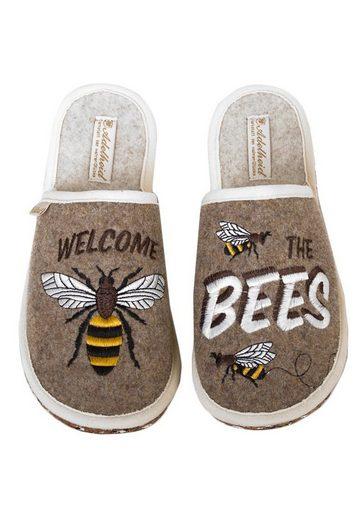 ADELHEID »Bees GO GREEN Filzpantoffel« Pantoffel