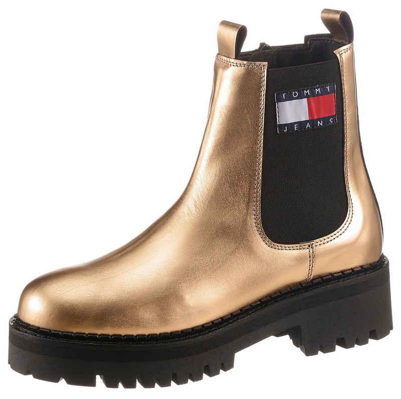 Tommy Jeans »METALLIC CHELSEA BOOT« Chelseaboots mit Logo-Aufnäher
