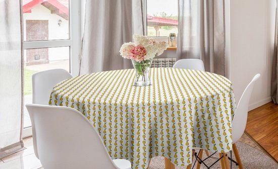 Abakuhaus Tischdecke »Kreis Tischdecke Abdeckung für Esszimmer Küche Dekoration«, Birne Karikatur-Frucht-Muster