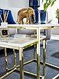 Wohnling Satztisch »WL6.249«, 2er Set Weiß Marmor Optik Eckig Couchtisch 2-teilig Tischgestell Metall Gold Kleine Wohnzimmertische Moderne Satztische Quadratisch, Bild 6