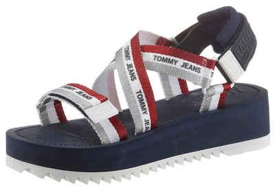 Tommy Jeans »LUREX WEBBING STRAPPY SANDAL« Riemchensandale mit zwei Klettverschlüssen