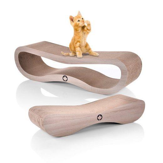 Canadian Cat Company Kratzpappe »Set Orbit & Satellite 2.0 - dunkelgrau«, (Qualitäts-Kratzbrett, XL Kratzmöbel mit Katzenminze), Spar Set