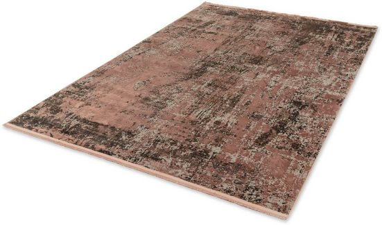 Teppich »Velvet«, SCHÖNER WOHNEN-Kollektion, rechteckig, Höhe 7 mm, Viskose, Wohnzimmer