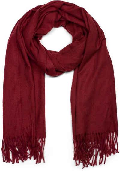 styleBREAKER Schal »Weicher Schal Uni mit Fransen« Weicher Schal Uni mit Fransen