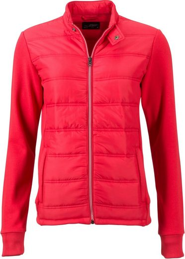 James & Nicholson Strickfleecejacke »Damen Hybrid Sweat Jacke«